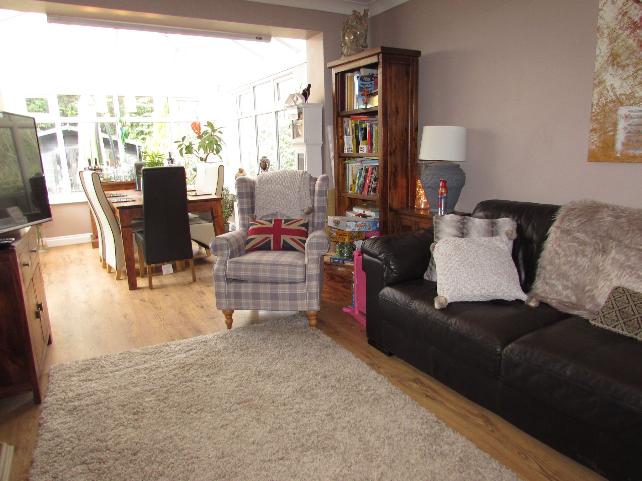 3 Bedroom Semi-detached House For Sale - Rear Lounge into Conservatory
