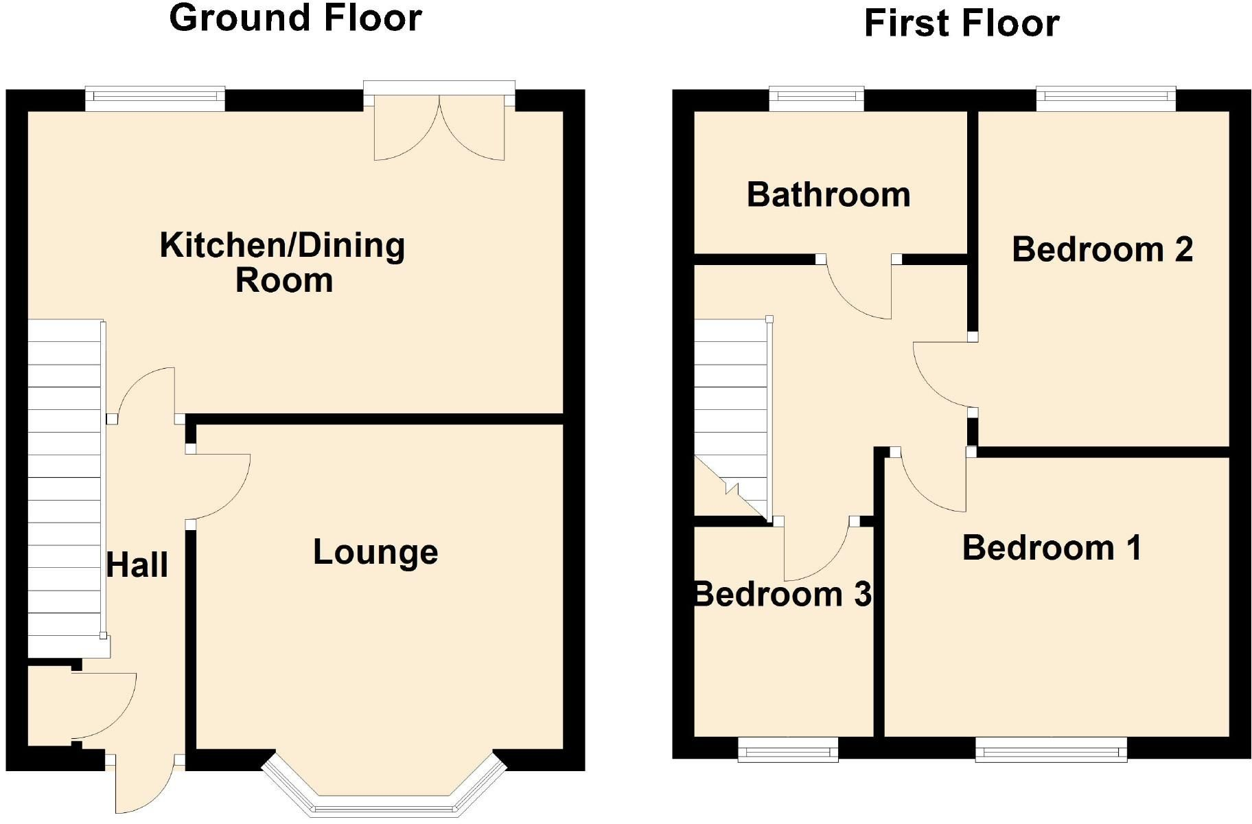 3 bedroom town house For Sale in Leicester - Floorplan 1.