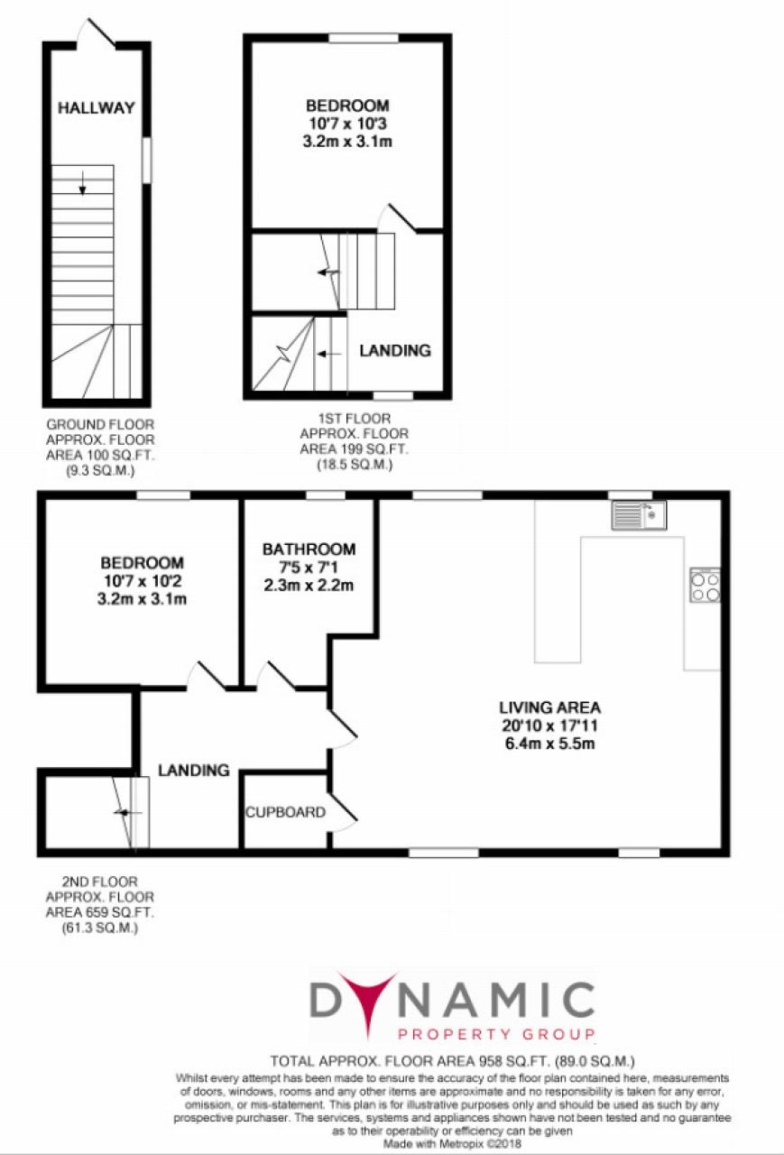 2 bedroom mid terraced house SSTC in Wolsingham - Floorplan 1