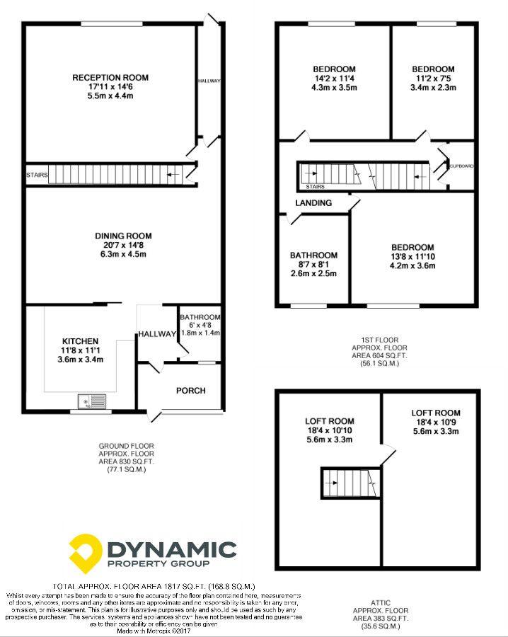 3 bedroom end terraced house For Sale in Esh Winning - Floorplan 1.