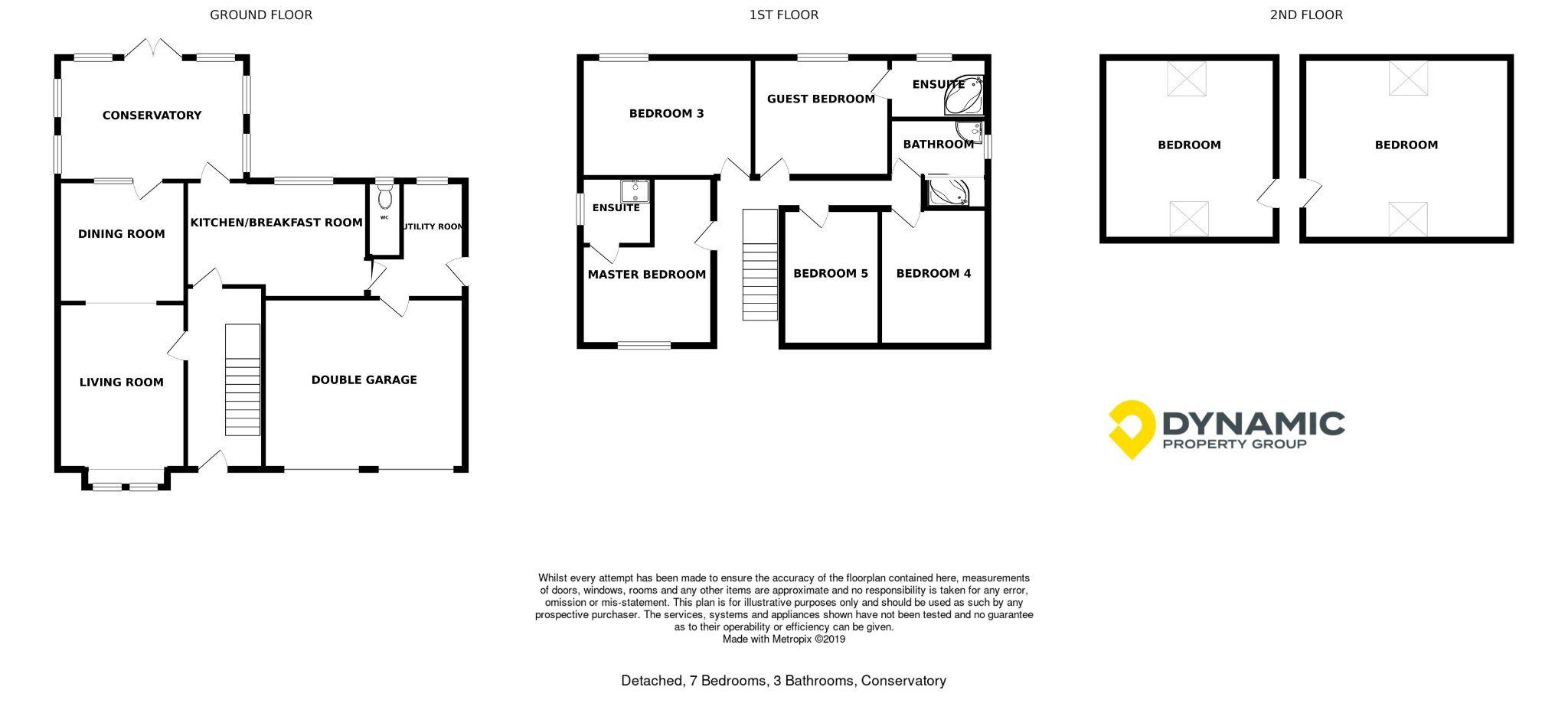 7 bedroom detached house Sale Agreed in Sunniside - Floorplan 1.