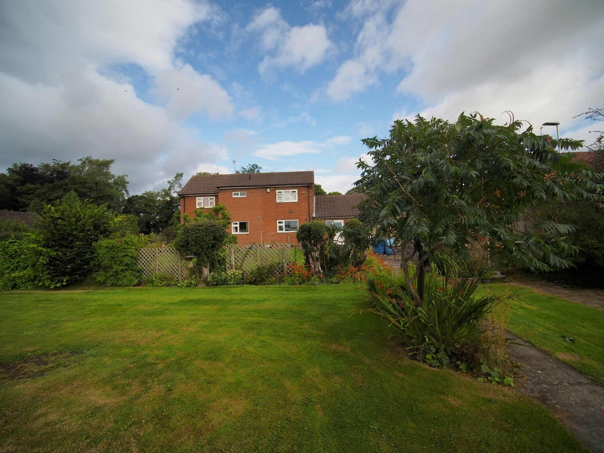 4 bedroom detached house For Sale in Willington - From the garden.