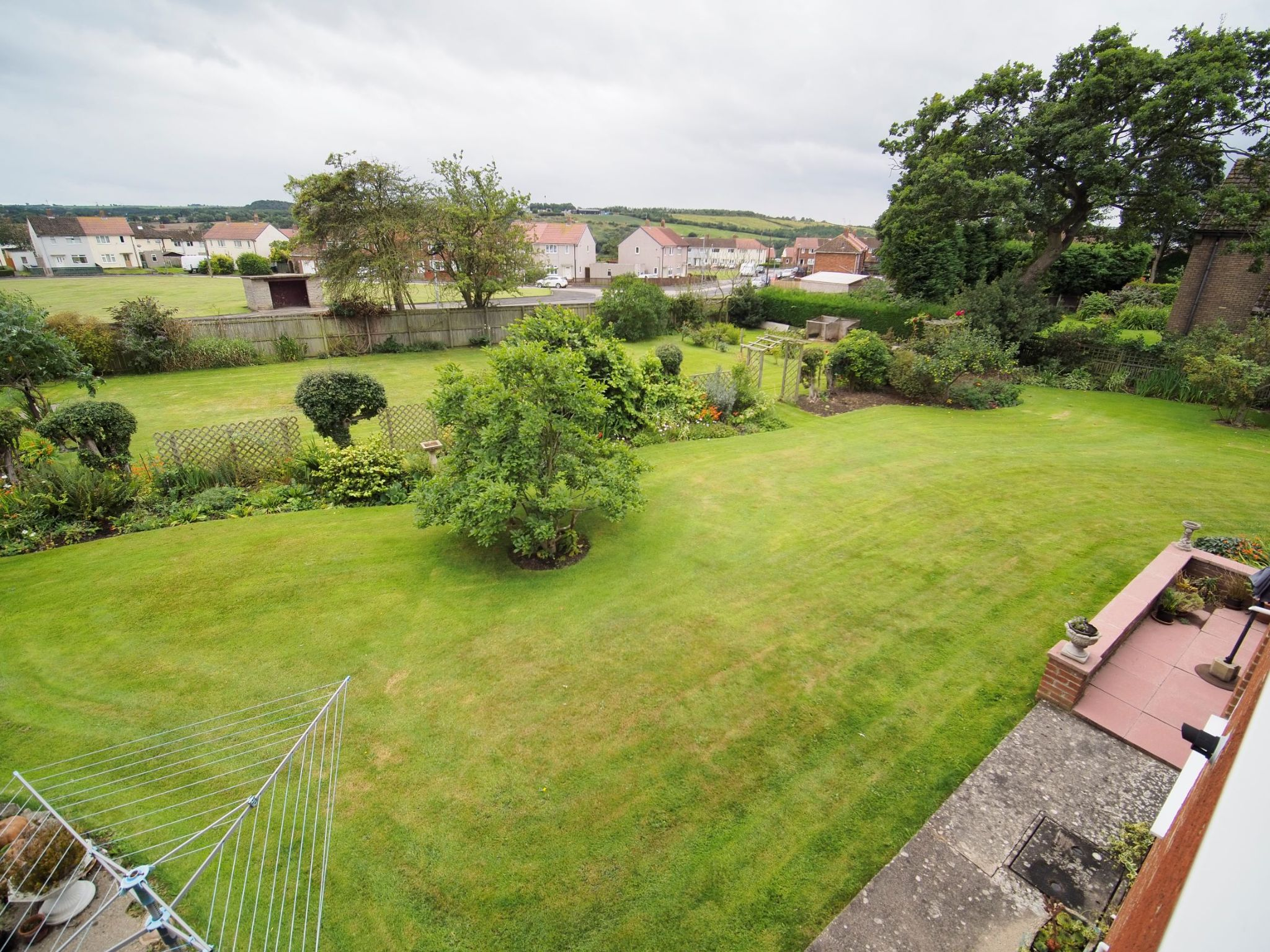 4 bedroom detached house For Sale in Willington - Garden view from upstairs.