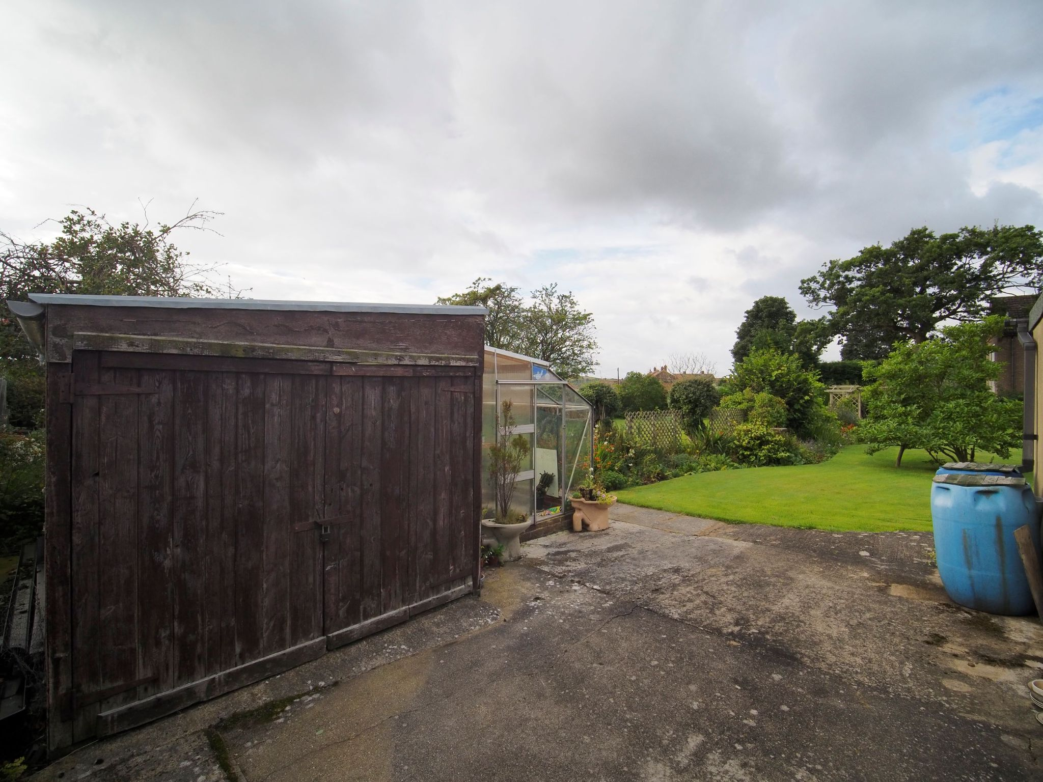 4 bedroom detached house For Sale in Willington - Storage Shed and Greenhouse.