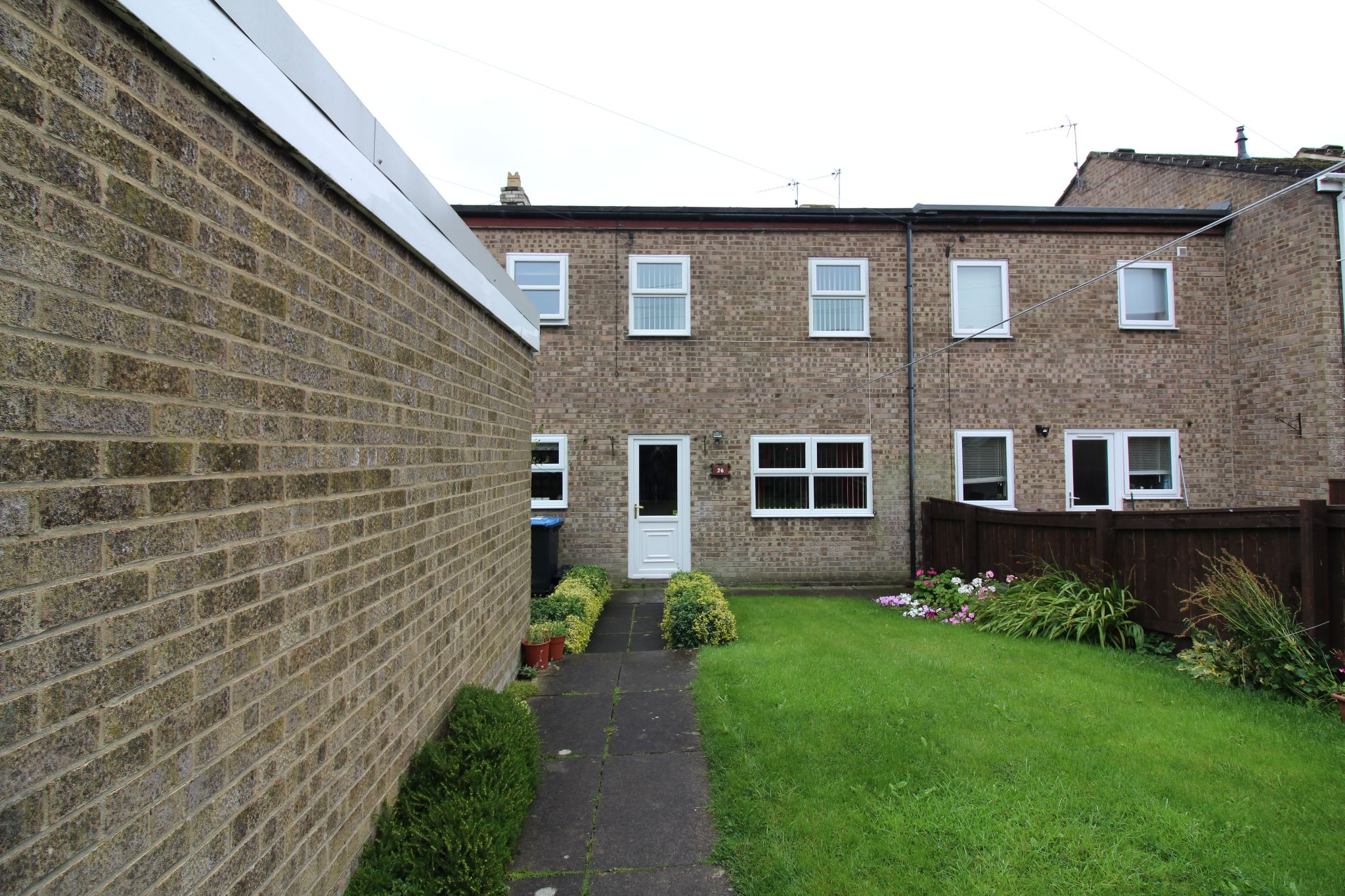 3 bedroom mid terraced house For Sale in Willington And Hunwick - View to rear of house.