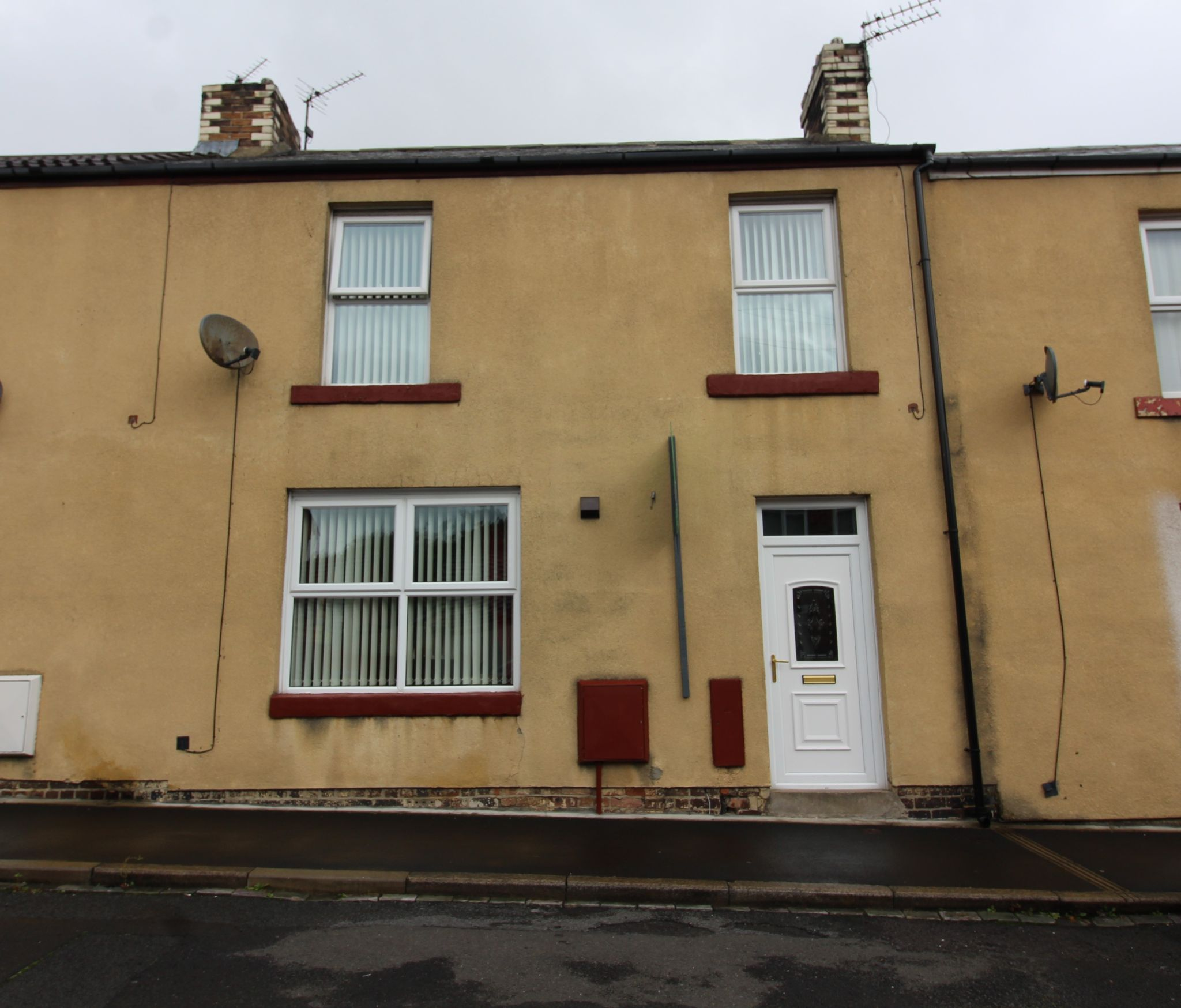 3 bedroom mid terraced house For Sale in Willington And Hunwick - Front of Property.