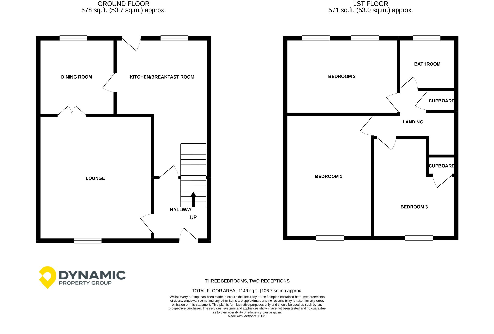 3 bedroom mid terraced house For Sale in Willington And Hunwick - Floorplan 1.