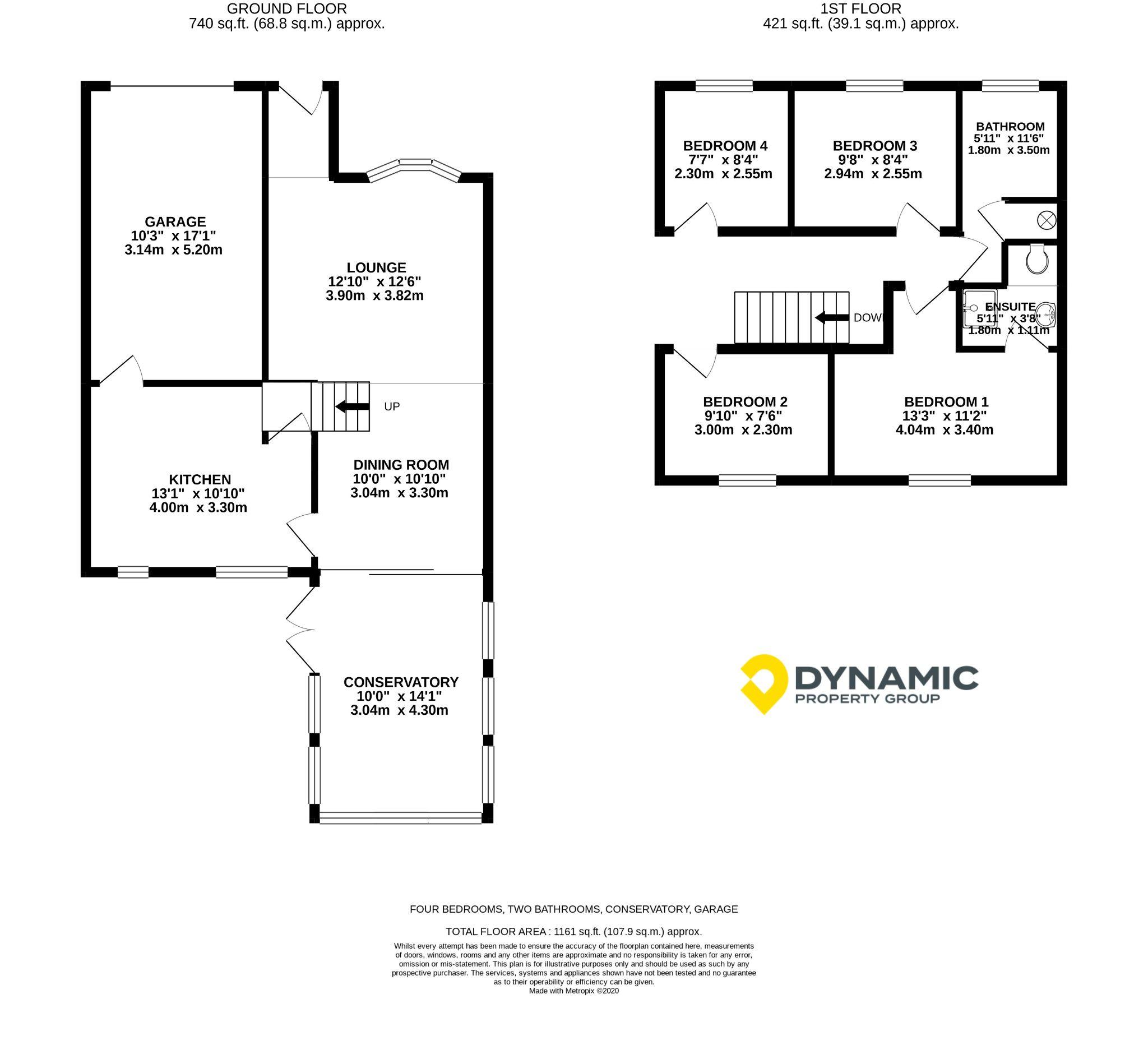4 bedroom detached house For Sale in Durham - Floorplan 1.