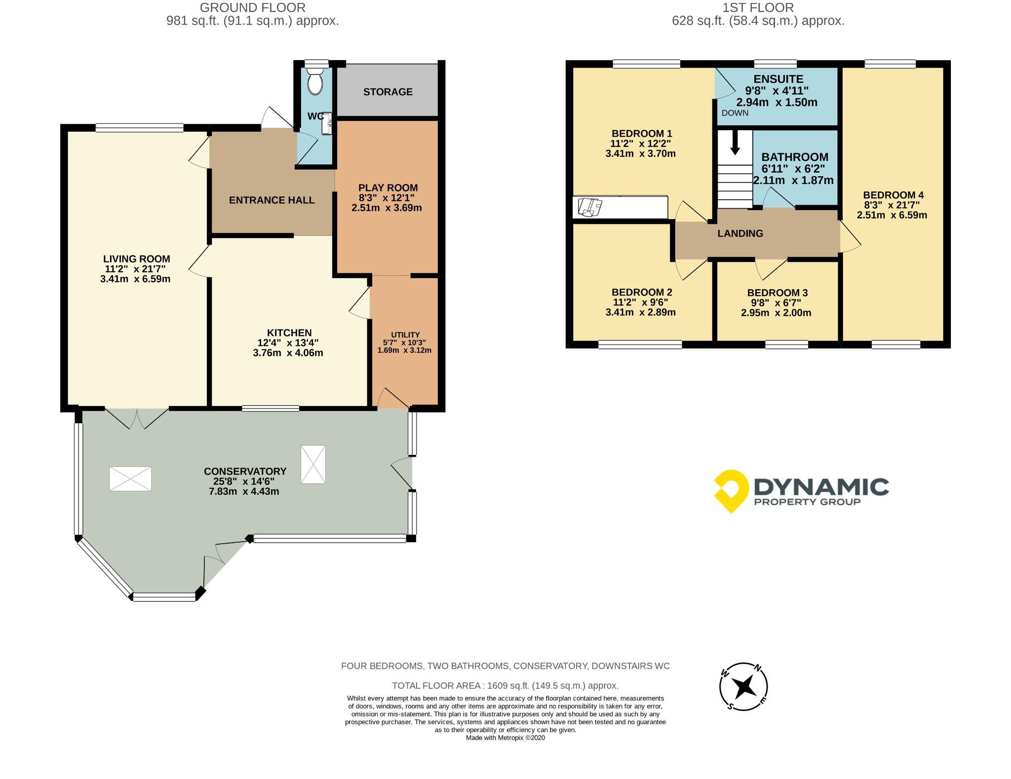 4 bedroom detached house Sale Agreed in Durham - Floorplan 1.