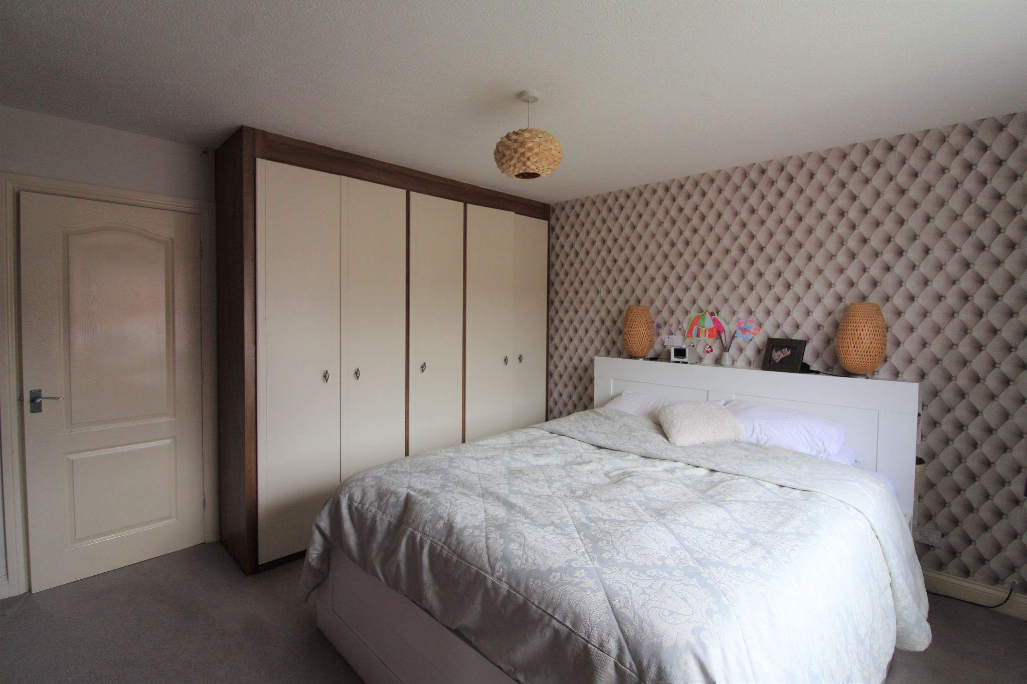 4 bedroom detached house Sale Agreed in Durham - Main Bedroom with built-ins.