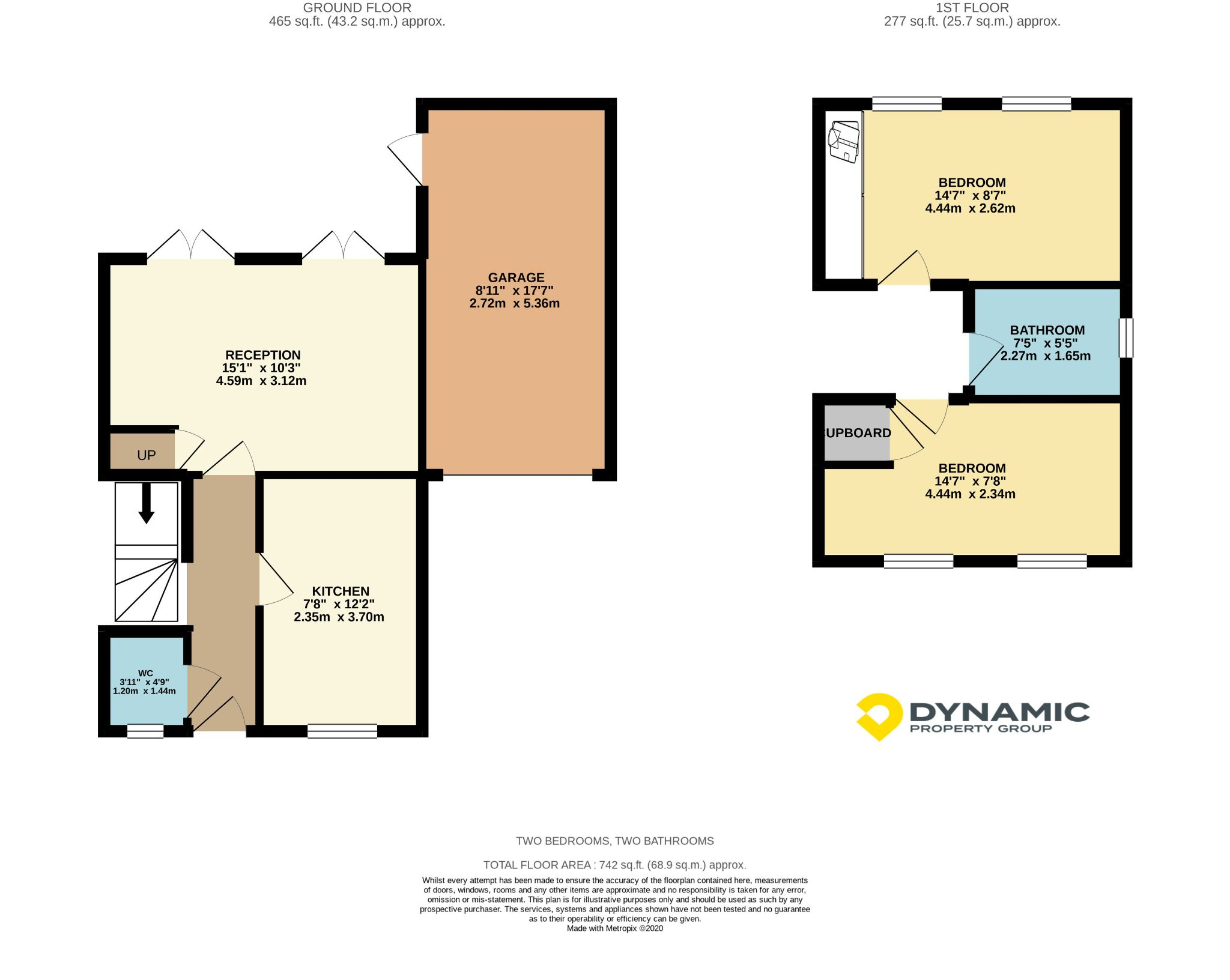 2 bedroom semi-detached house Sale Agreed in Durham - Floorplan 1.