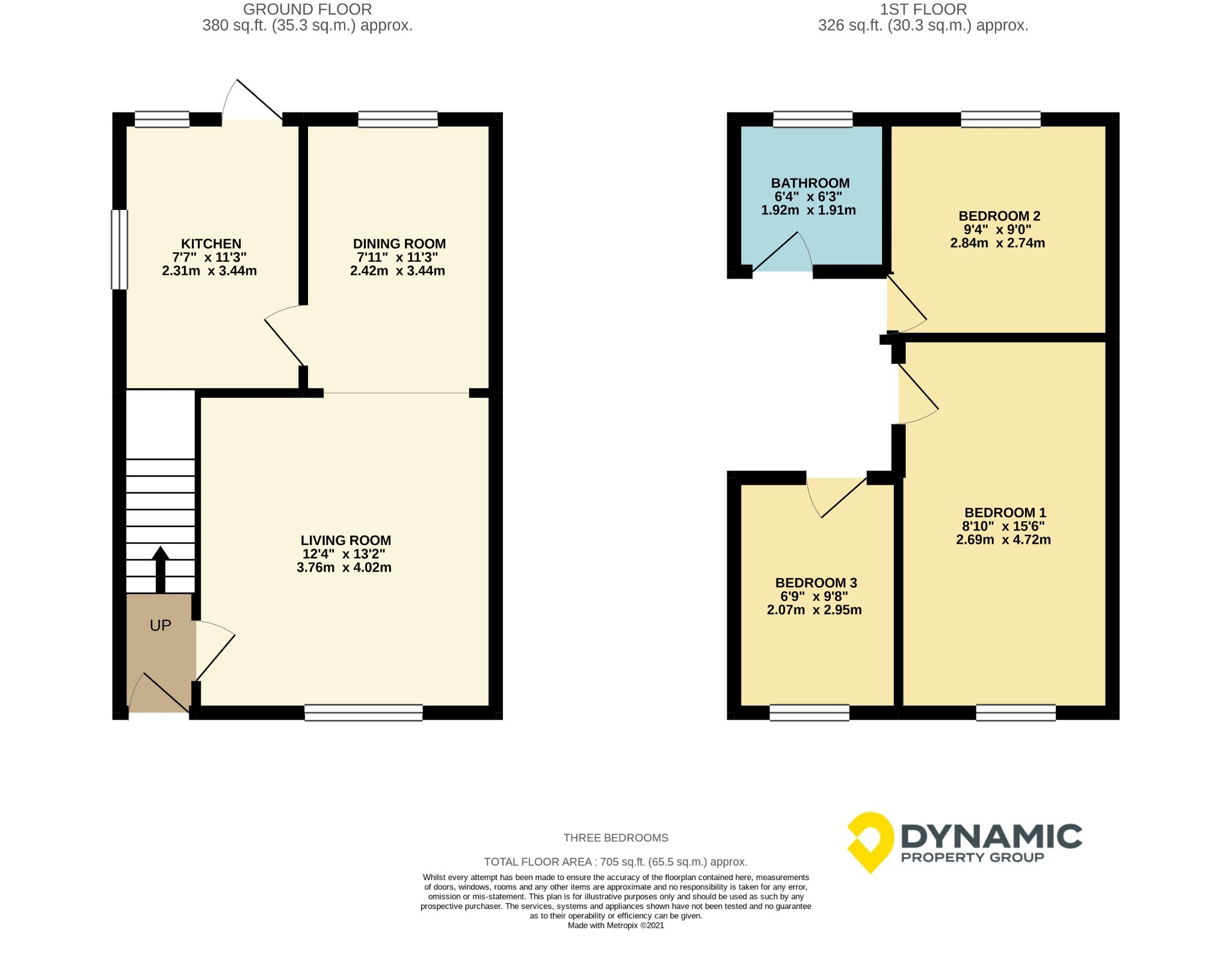 3 bedroom semi-detached house Sale Agreed in Bishop Auckland - Floorplan 1.