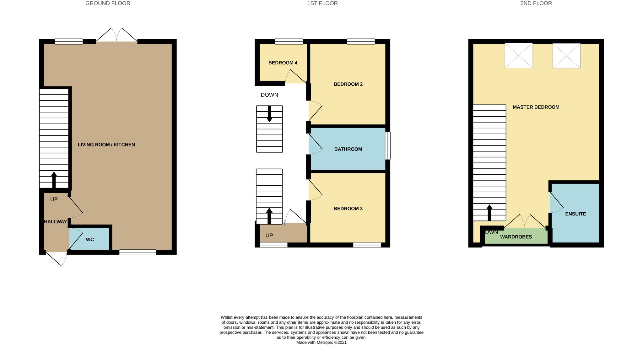 4 bedroom detached house For Sale in Durham - Floorplan 1.