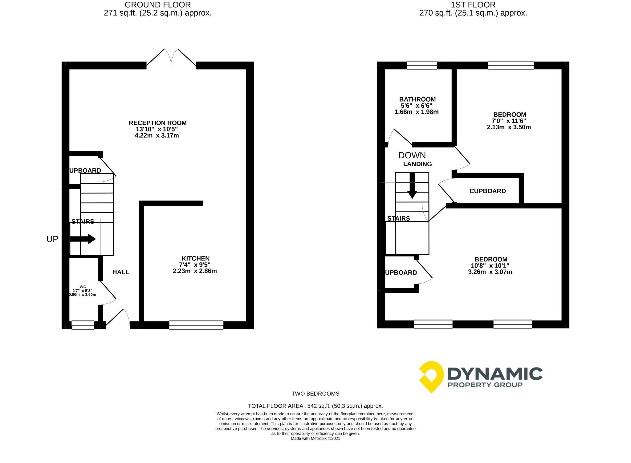 2 bedroom mid terraced house Let in Bishop Auckland - Floorplan 1.