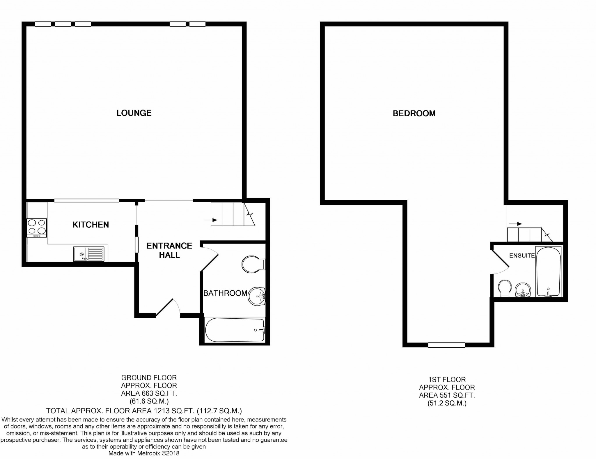 1 Bedroom Apartment Flat/apartment For Sale - Floorplan 1