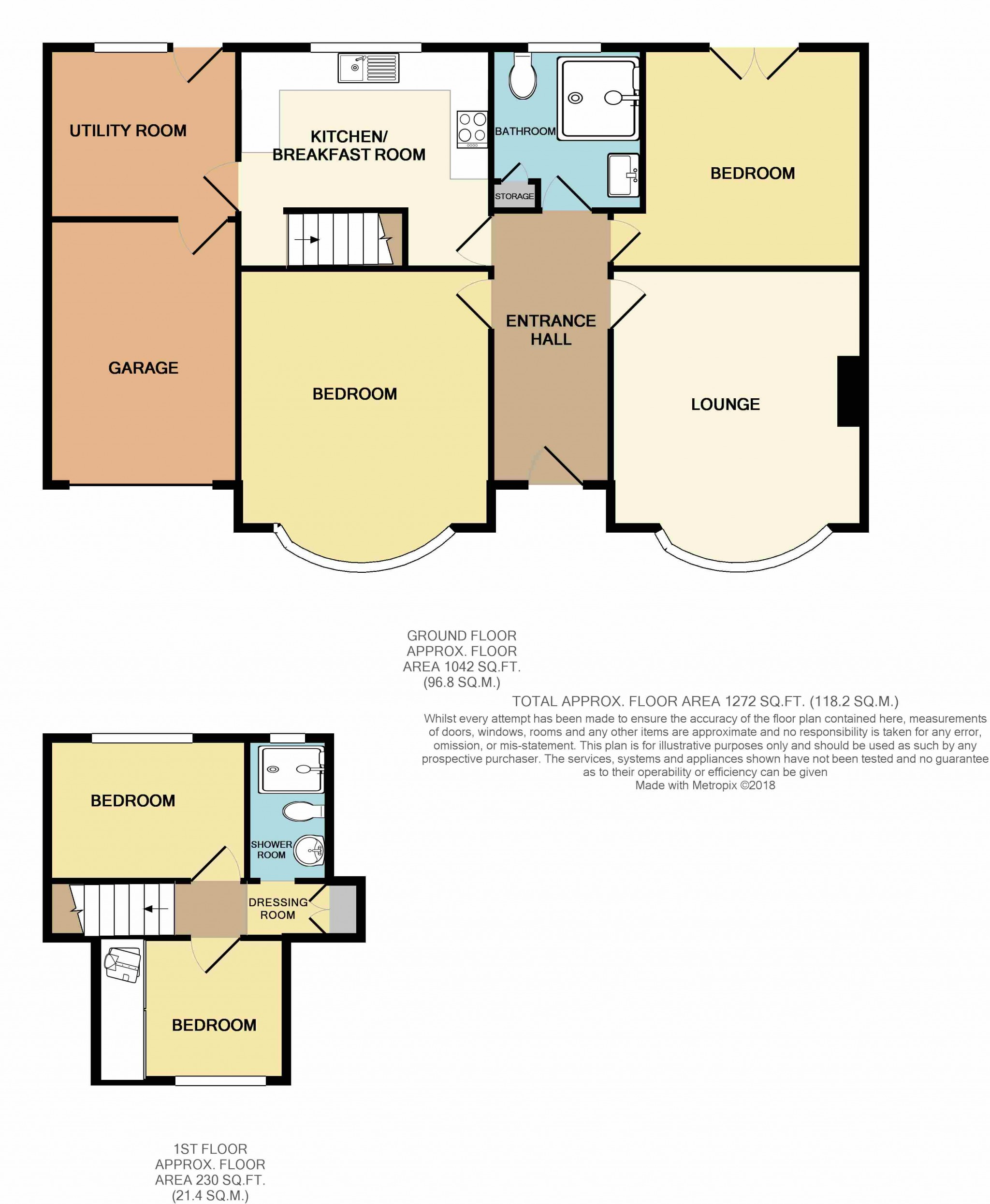 4 Bedroom Detached Bungalow For Sale - Floor Plan
