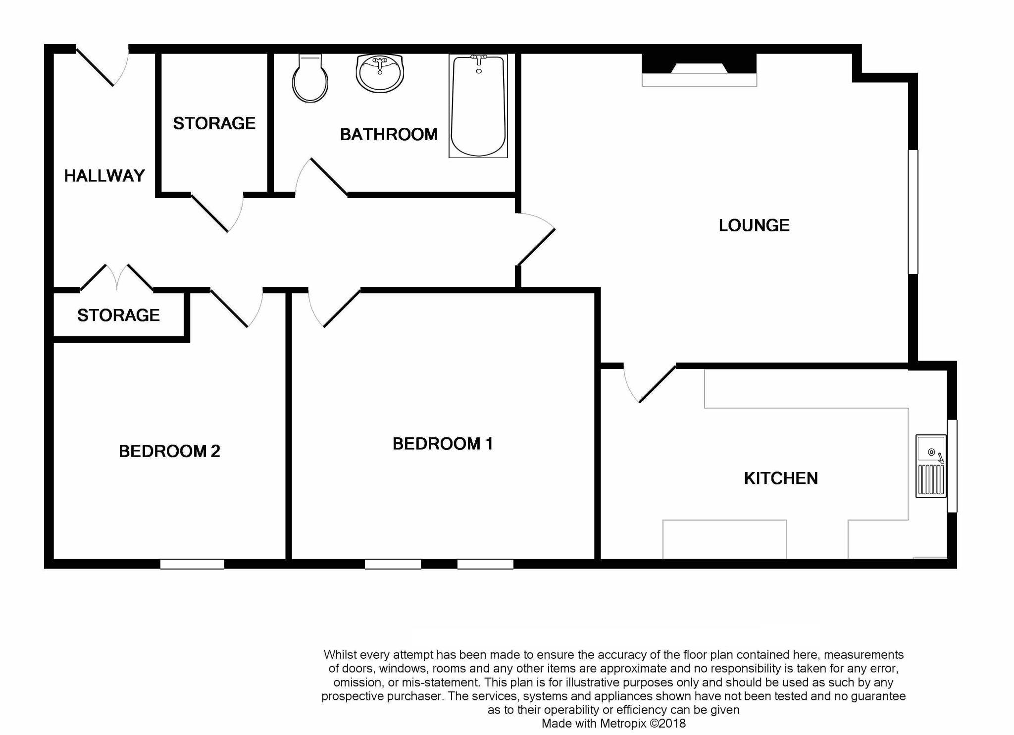 2 Bedroom Apartment Flat/apartment For Sale - Floorplan 1