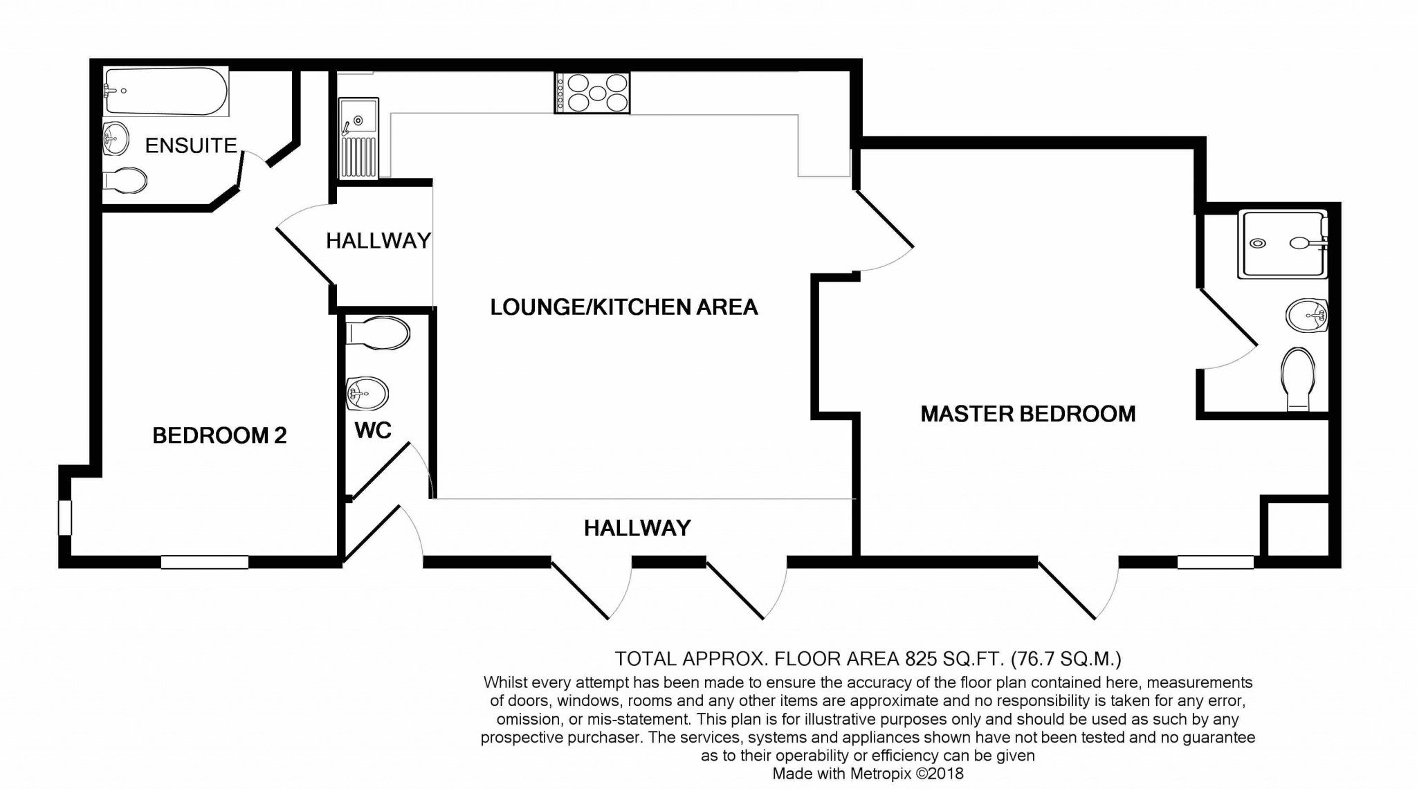 2 Bedroom Flat Flat/apartment For Sale - Floorplan 1