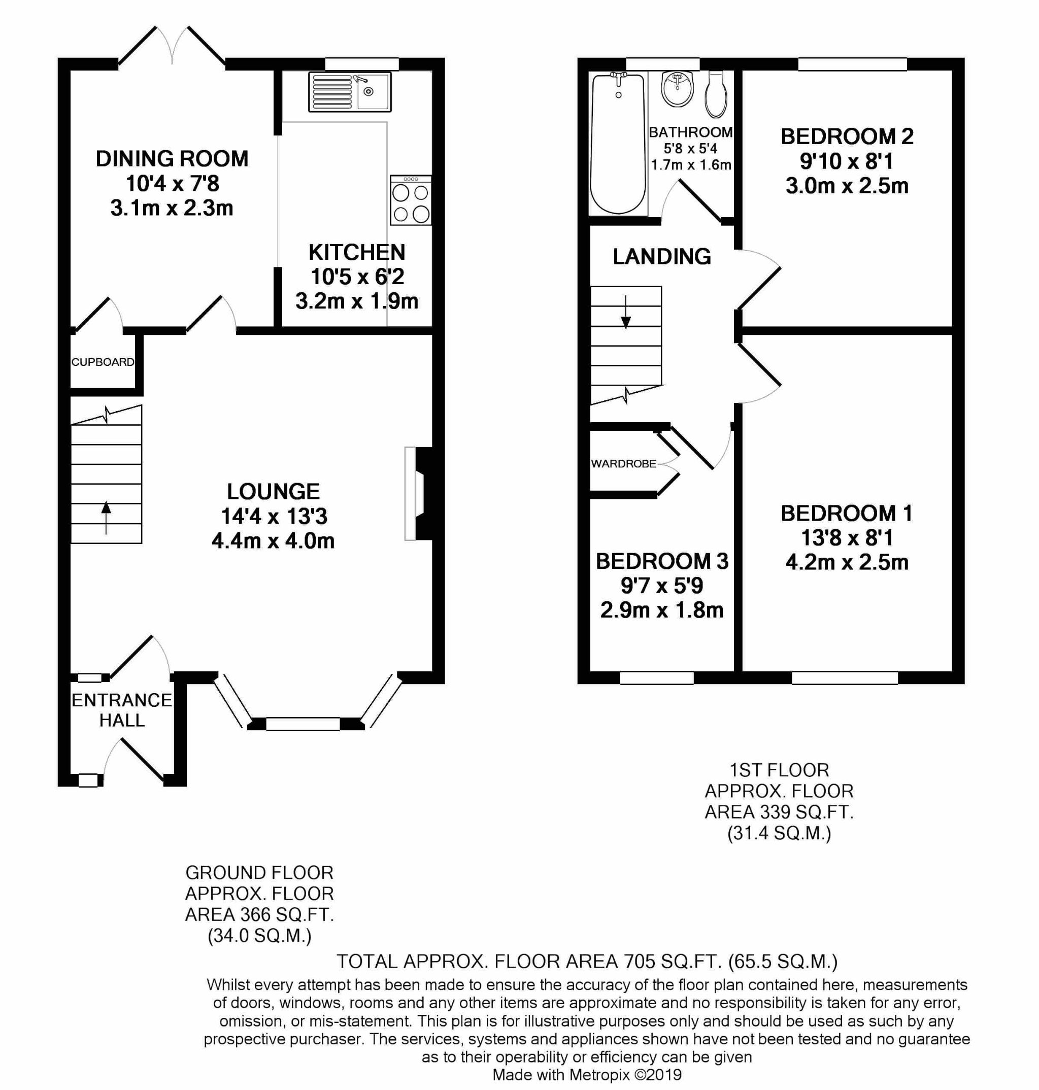 2 Bedroom Mews House For Sale - Floorplan 1