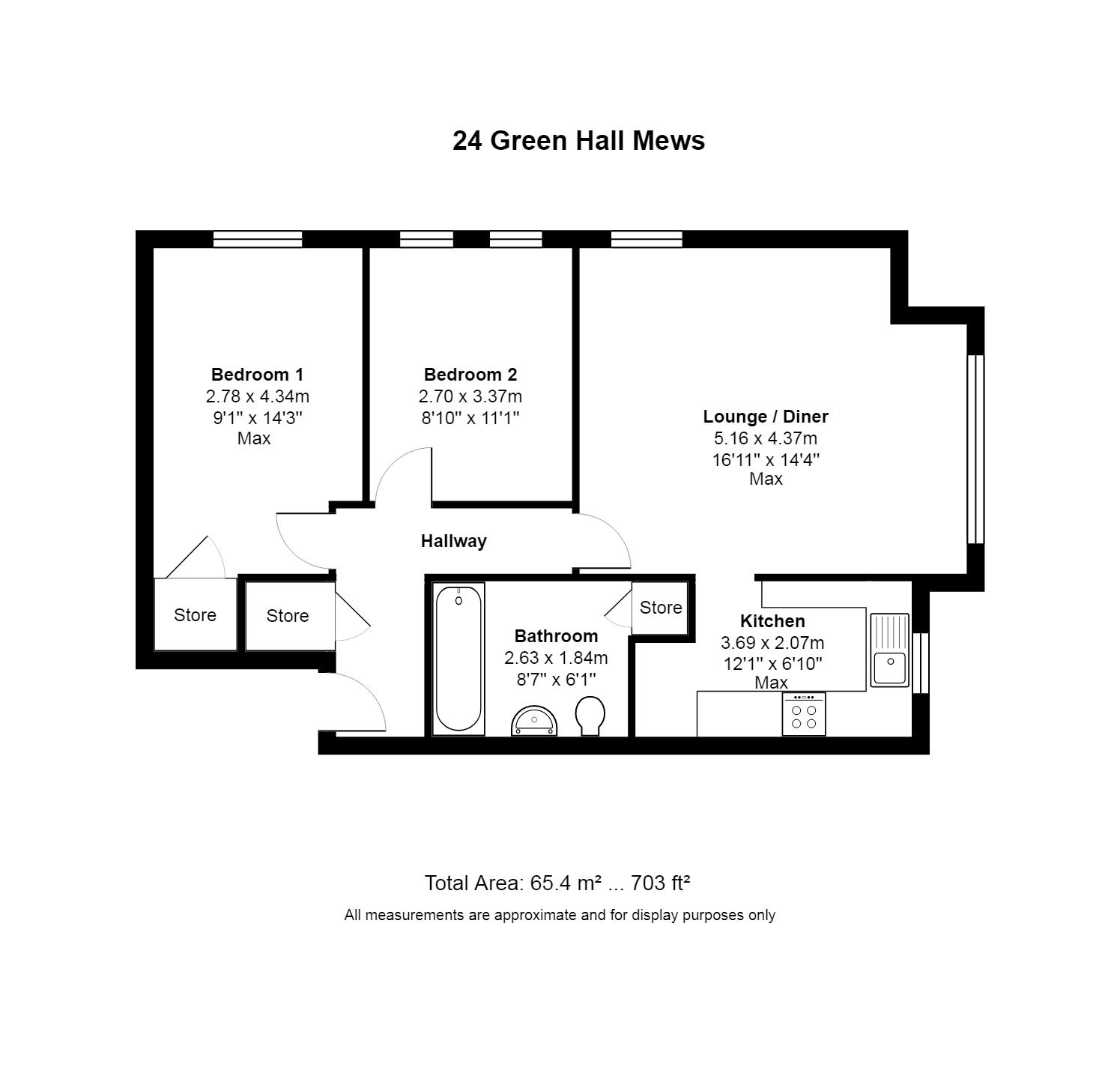 2 Bedroom Apartment Flat/apartment For Sale - Photograph 22