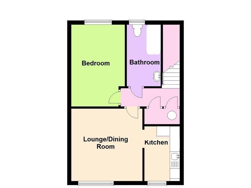 1 bedroom maisonette flat/apartment For Sale in New Malden - Floor Plan