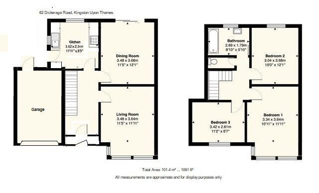 3 bedroom semi-detached house SSTC in Kingston Upon Thames - Floor Plan