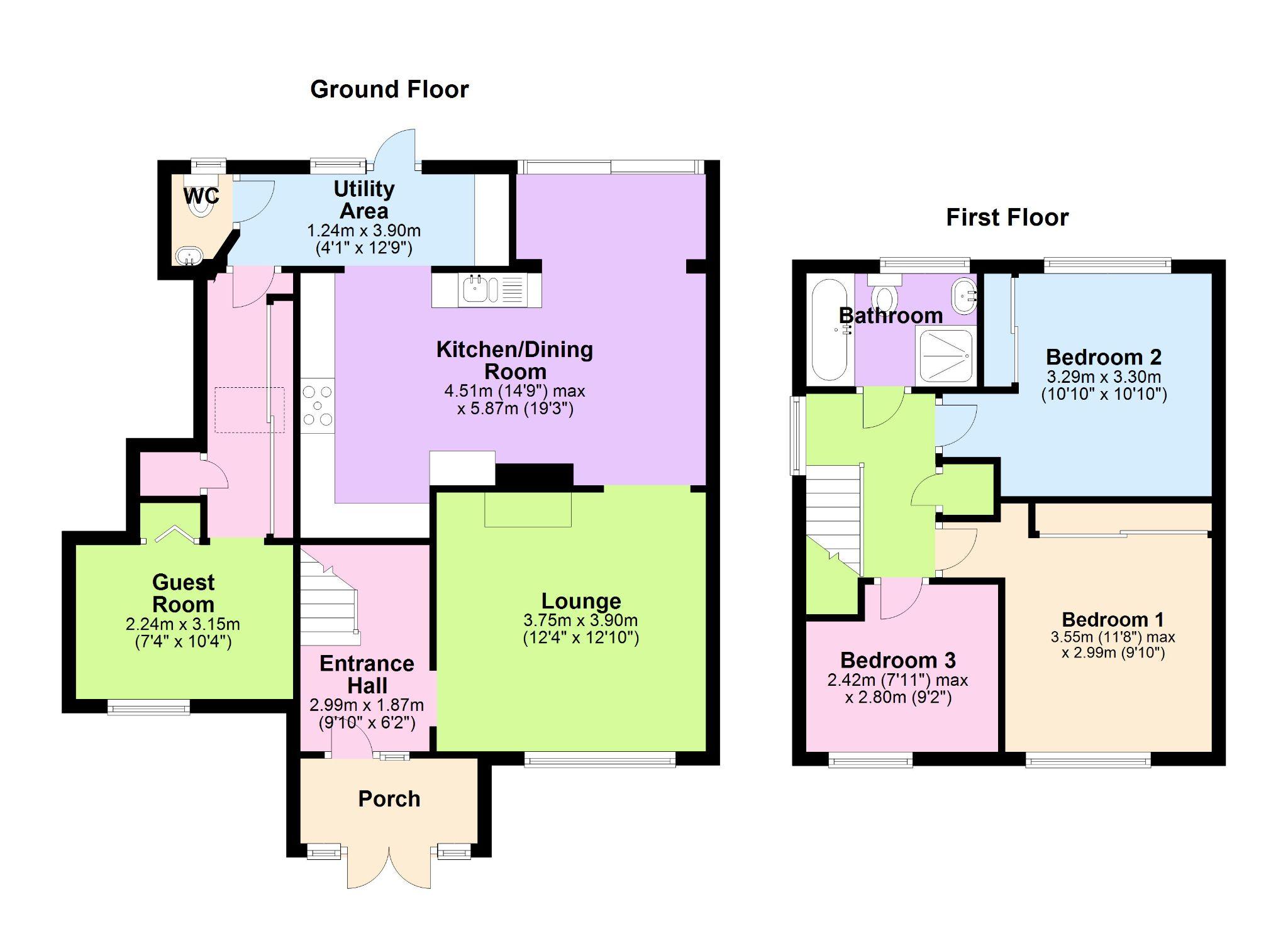4 bedroom semi-detached house Sale Agreed in Epsom - Floorplan 1