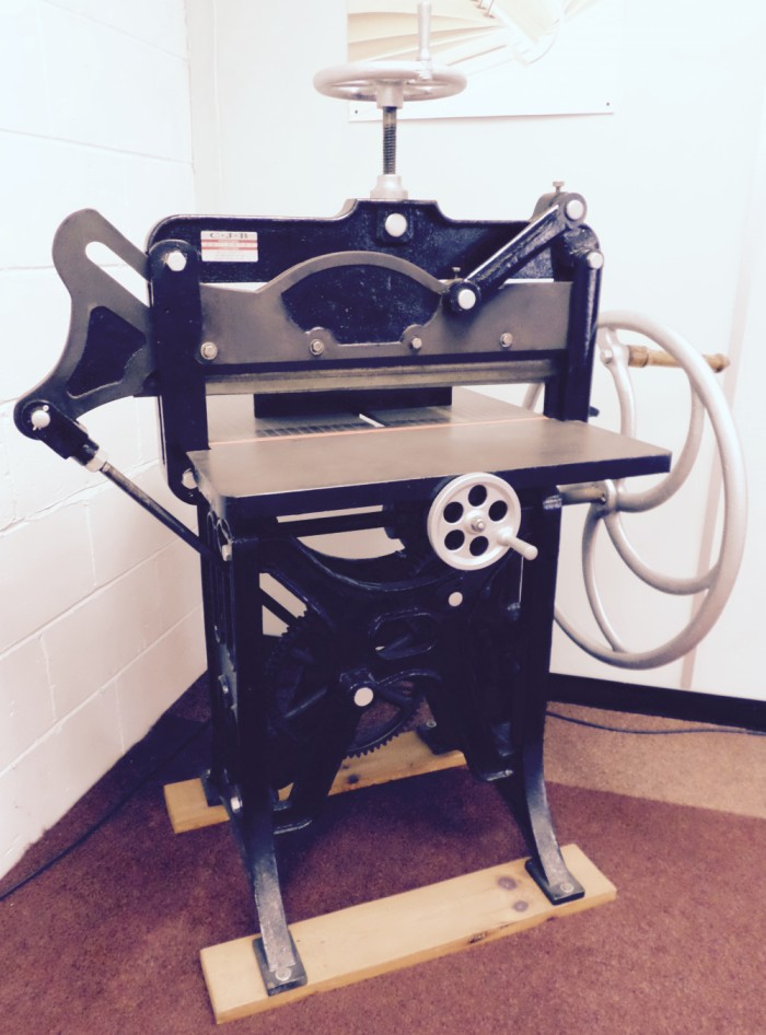 Antique Guillotine that a customer was still using!
