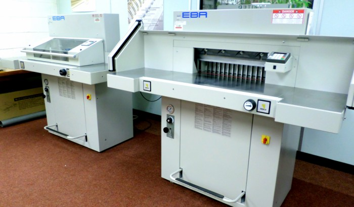 Two used EBA Guillotines