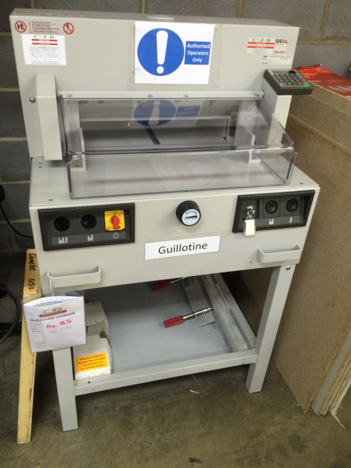 Ideal 4850-95 EP Guillotine serviced