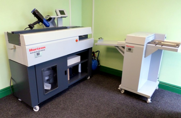 Horizon BQ-160 PUR Binder in our showroom