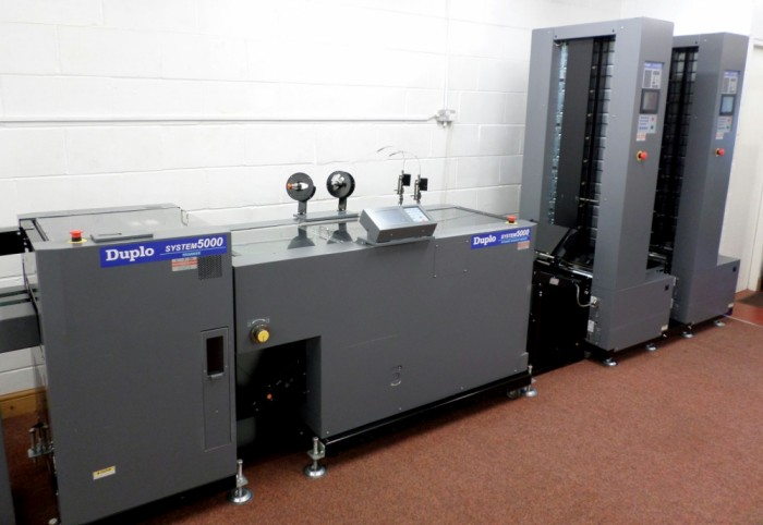 Duplo System 5000 Booklet Line in our showroom