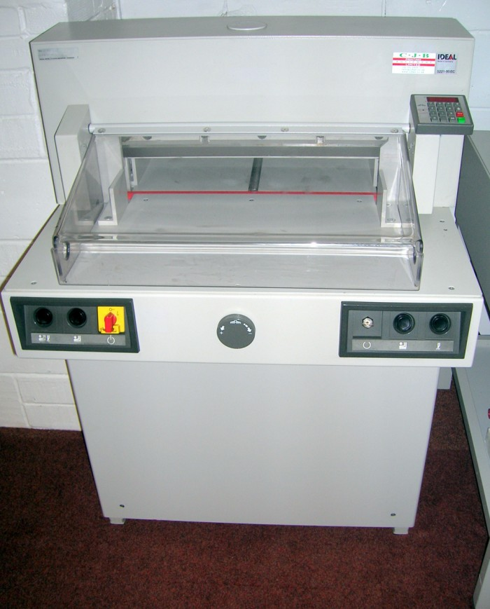 Ideal 5221-95 EC Guillotine serviced