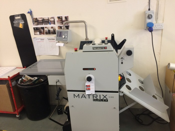 Matrix 530 Laminator Duplex Installed
