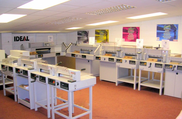 Our guillotine showroom in midlands