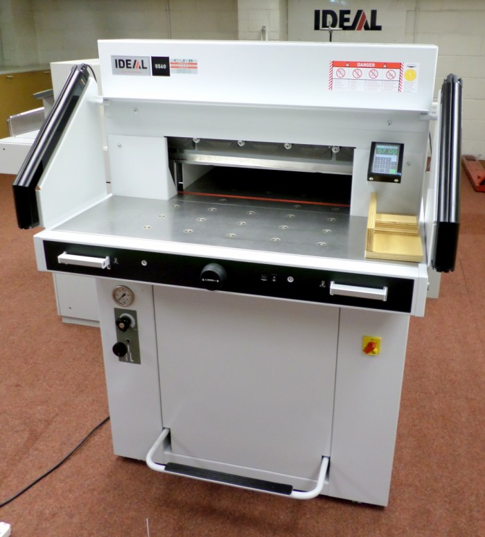 Ideal 5560 Guillotine with air bed in our showroom