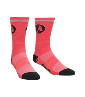 stolen goat fluoro pink merino socks