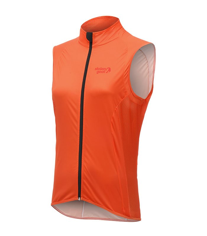 stolen goat womens bodyline core orange gilet