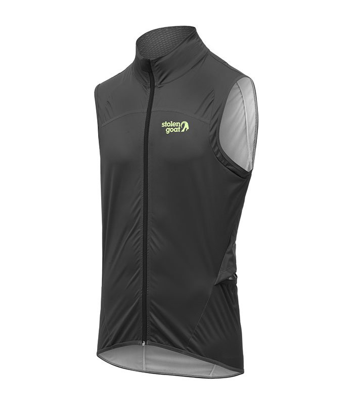 stolen goat mens bodyline black gilet