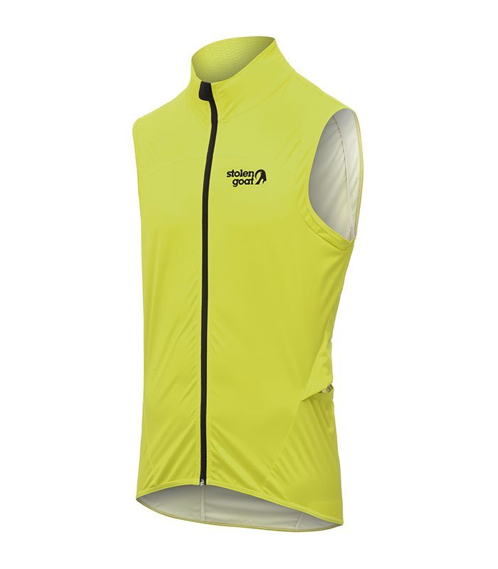 stolen goat mens bodyline yellow gilet