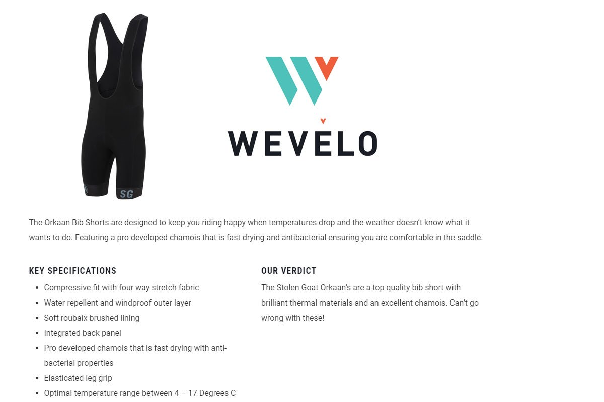 wevelo orkaan shorts review