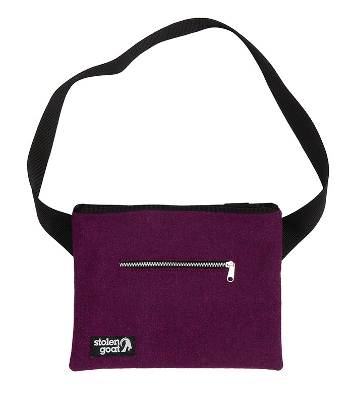 Stolen Goat Bright Purple Harris Tweed musette