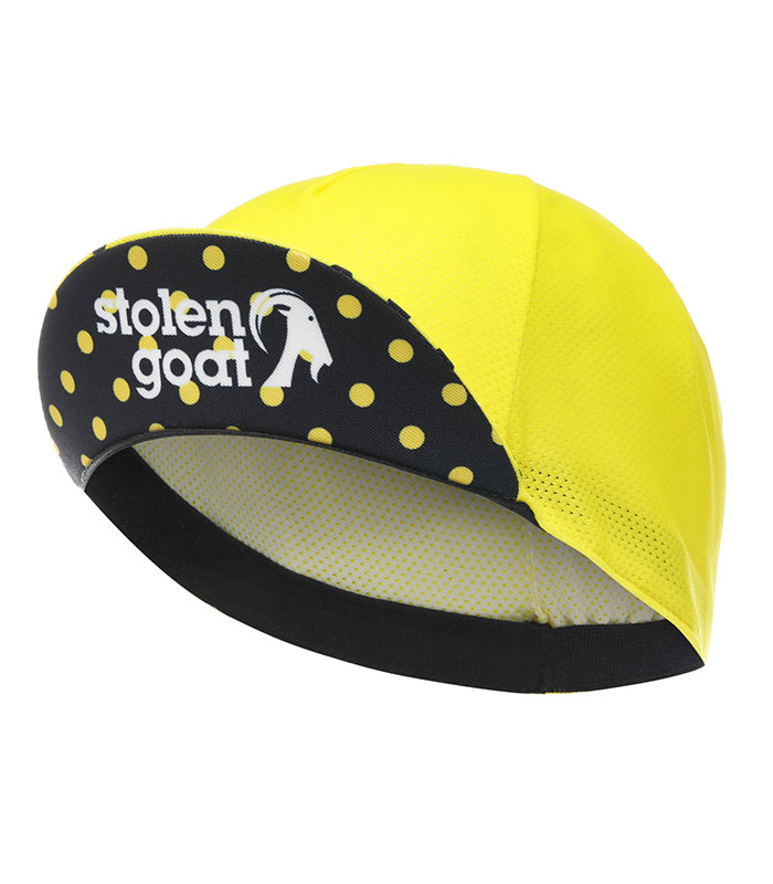 stolen goat joiner yellow lightweight cycling cap peak up