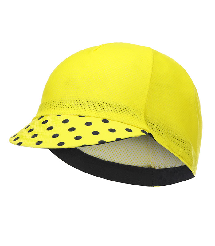 stolen goat joiner yellow lightweight cycling cap peak down