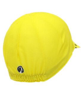 stolen goat joiner yellow lightweight cycling cap peak rear