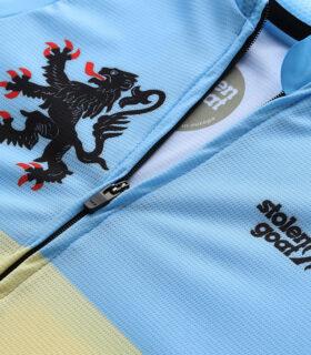 Stolen Goat Belgian Blue men's climbers jersey front zipper
