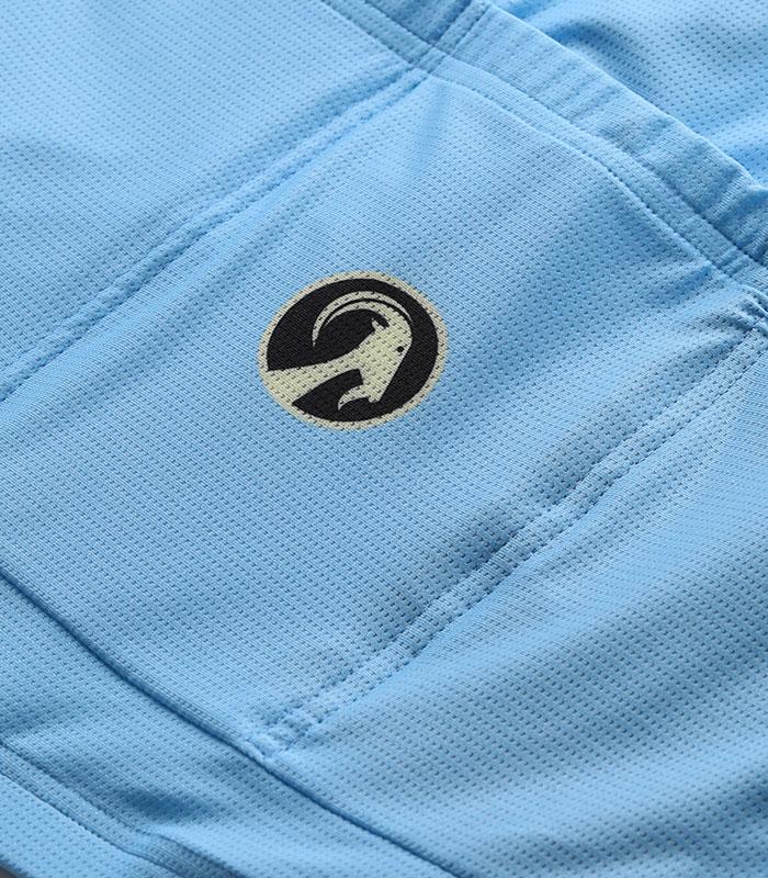 Stolen Goat Belgian Blue men's climbers jersey logo