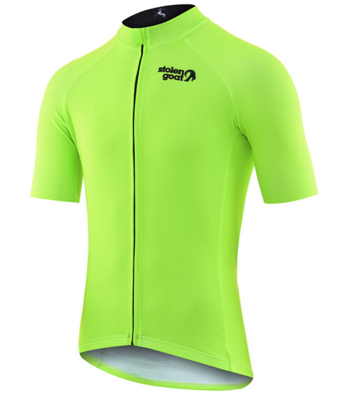 stolen goat fitch green men's CORE bodyline cycling jersey front