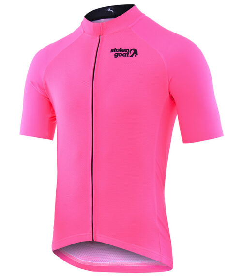 Stolen Goat Fitch Pink men's core bodyline cycling jersey front