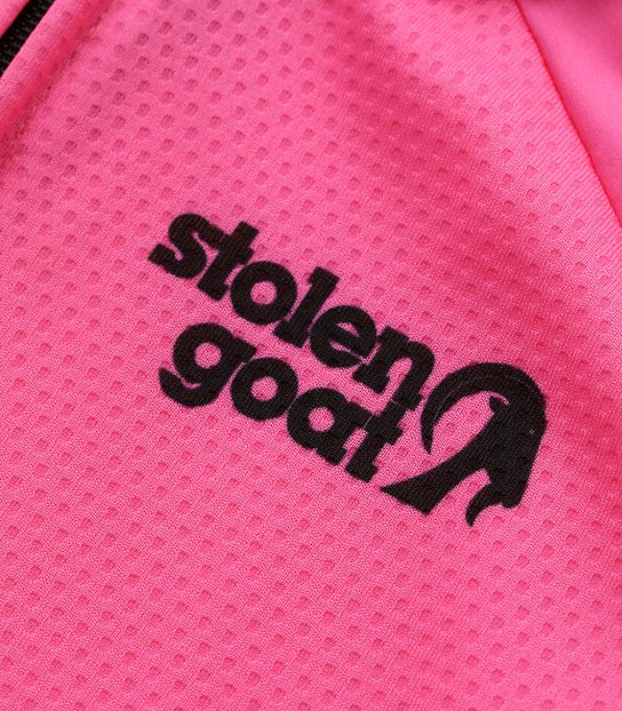 Stolen Goat Fitch Pink Bodyline LS jersey front logo